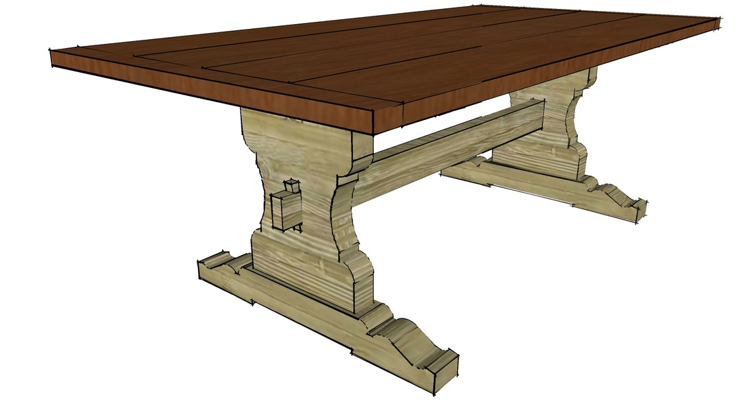 Trestle Table Rendering