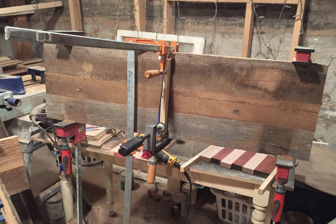 Reclaimed Wood, Clamps & Glue