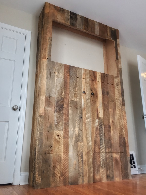 Custom Reclaimed Wood TV Cabinet
