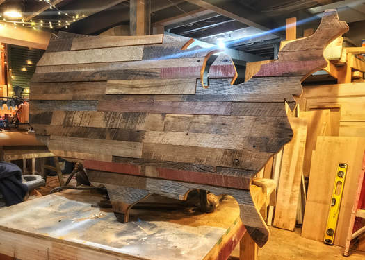 Reclaimed Barn Wood United States Wall Hanging