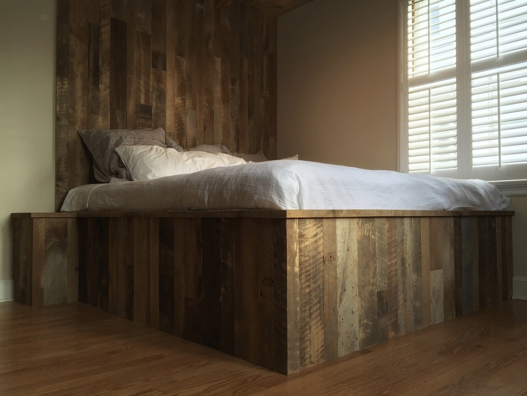 Reclaimed Wood Bed Skirt