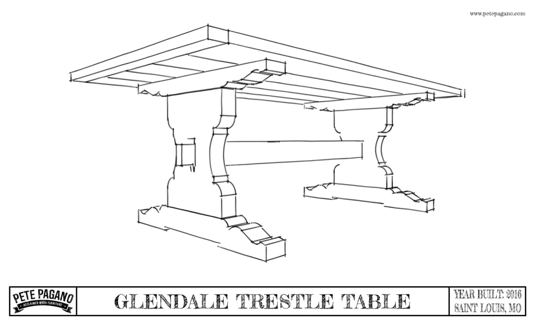 reclaimed wood trestle table plans cover sheet
