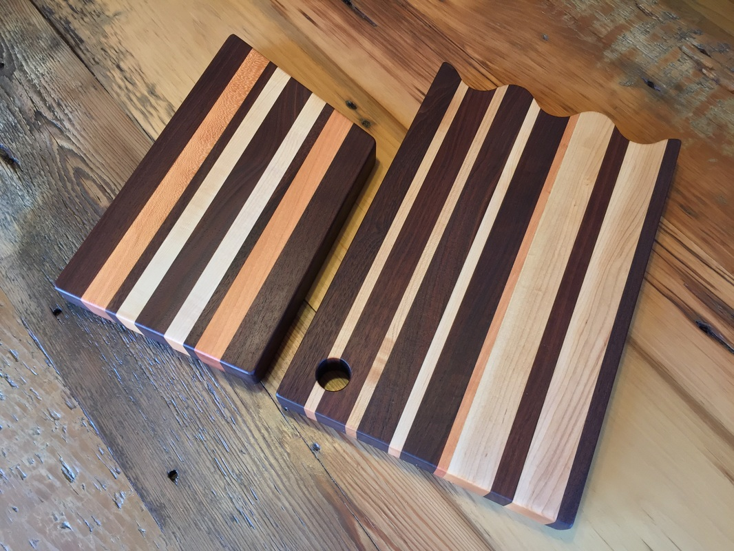 Mixed Hardwood Serving Boards