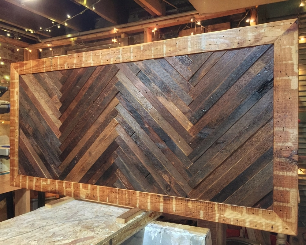 Reclaimed Wood, Herringbone Pattern